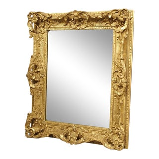 Louis XV Style Gilt Composite and Wood Mirror For Sale
