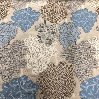 Jane Churchill Foxley Aqua Fabric For Sale