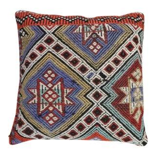 1960s Vintage Star Kilim Pillow For Sale