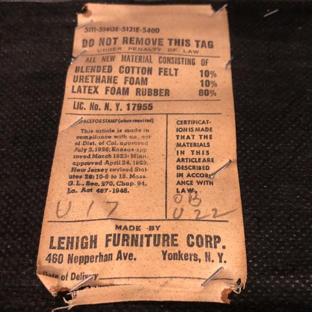 Ward Bennett Button-Tufted Leather Sofa for Lehigh Furniture, Circa 1960s For Sale - Image 12 of 13