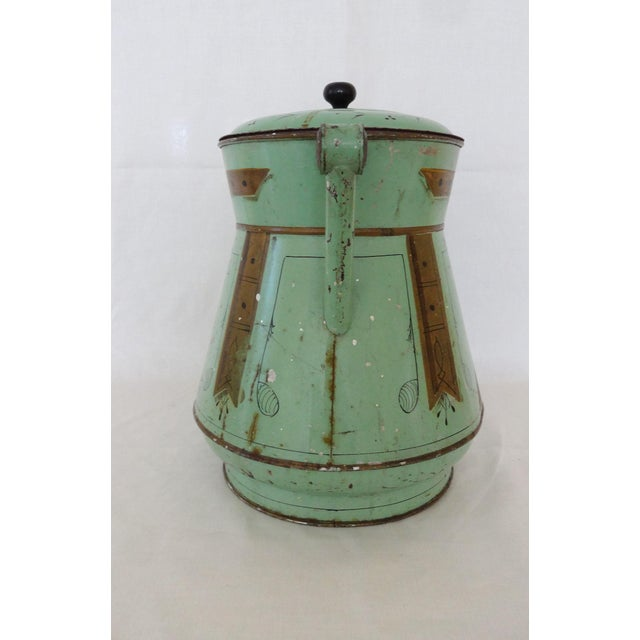 Late 19th Century Antique Toleware Container For Sale - Image 4 of 9