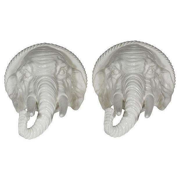 Elephant Wall Shelves, Pair For Sale - Image 4 of 5