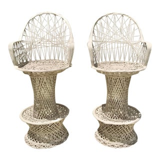 Russell Woodard Barstools - a Pair For Sale