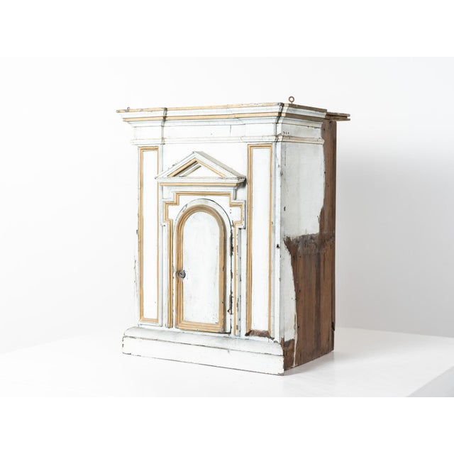 Antique Neoclassic painted wood tabernacle. France circa 1840.