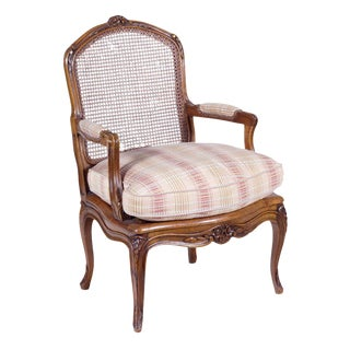 Louis XV Style French Walnut Armchair