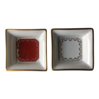 De Limoges Cartier Decor Mini Trays - Set of 2