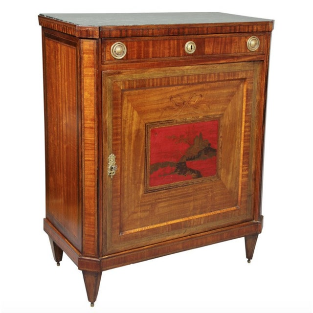 Dutch Neoclassical Satinwood and Japanned Cabinet For Sale - Image 13 of 13