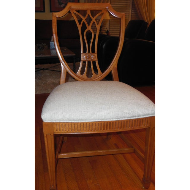 1930's Myrtlewood Dining Table and Chairs (1 of 3 Listings) For Sale In Chicago - Image 6 of 11