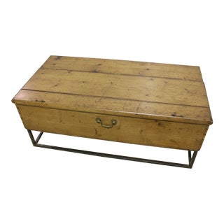 1970s French Country Trunk Coffee Table For Sale