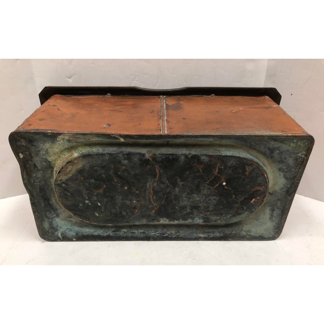 1930s 1930s Vintage French Rectangular Copper Planter For Sale - Image 5 of 9