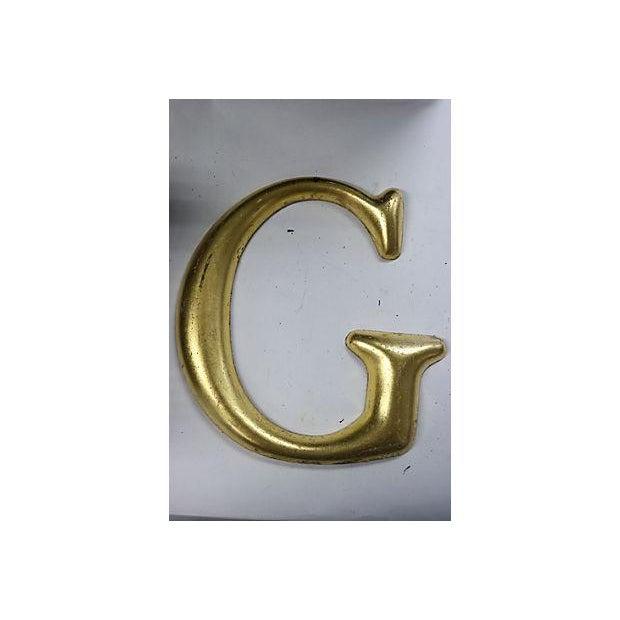 """Vintage English Pub Sign Letter """"G"""" - Image 2 of 3"""