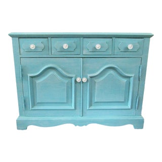 Vintage Turquoise Buffet For Sale