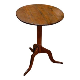 English Round Top Wine Table For Sale