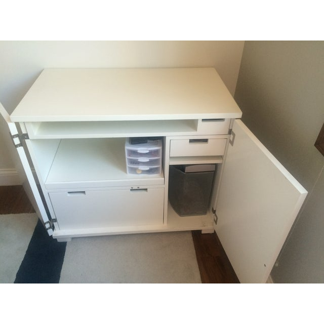 Crate & Barrel Filing Cabinet and Pull-Out Desk For Sale In Los Angeles - Image 6 of 7