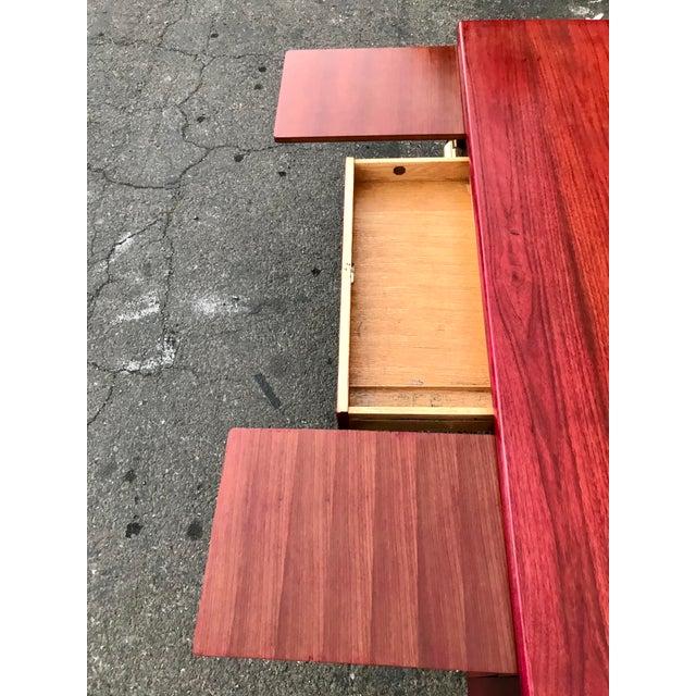 1950s Refinished 'Painted Lady' Pontoon Base Executive Desk For Sale - Image 10 of 13