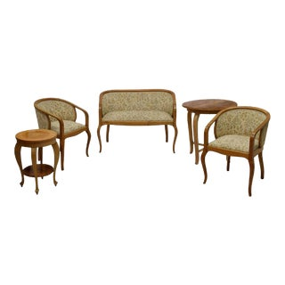 Art Nouveau Parlor Furniture - Set of 5 For Sale