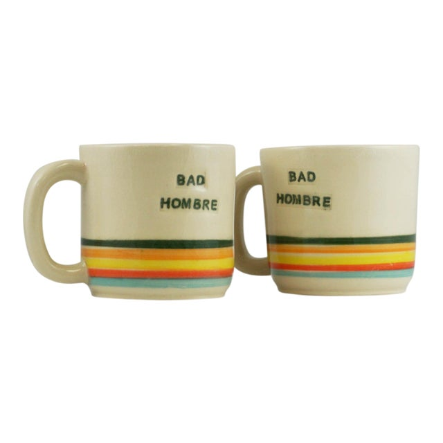 Bad Hombre Mugs - A Pair - Image 1 of 7