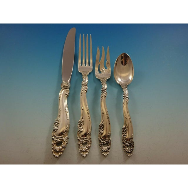 1940s Decor by Gorham Sterling Silver Flatware Set for 18 Service - 132 Pieces For Sale - Image 5 of 12