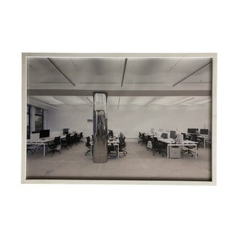 Vintage Wall Art Photograph Scandinavian Office Interior For Sale