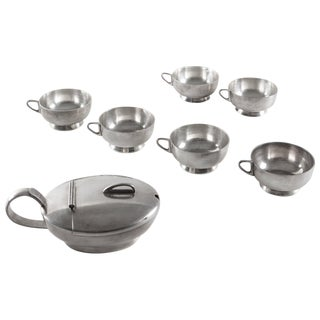 Set of Silver Pieces by Gio Ponti for Calderoni