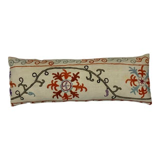 Antique Silk Embroidery Suzani Pillow For Sale