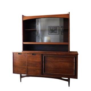 1960s Mid-Century Modern Walnut Hutch