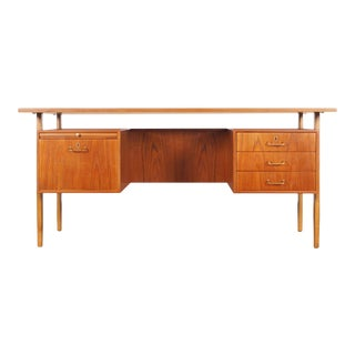 Danish Modern Teak Desk by Torben Strandgaard For Sale