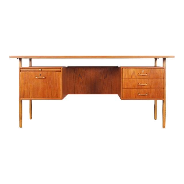 Danish Modern Teak Desk by Torben Strandgaard For Sale
