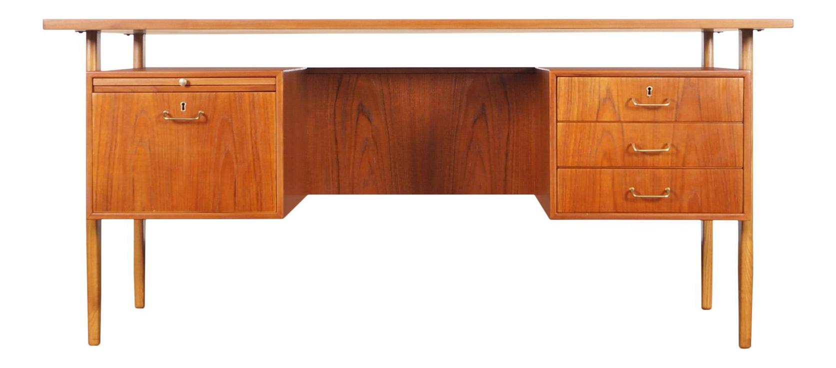 Image of: Danish Modern Teak Desk By Torben Strandgaard Chairish
