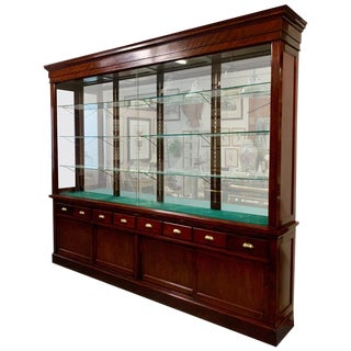 Early 20th Century Mahogany Display Cabinet For Sale