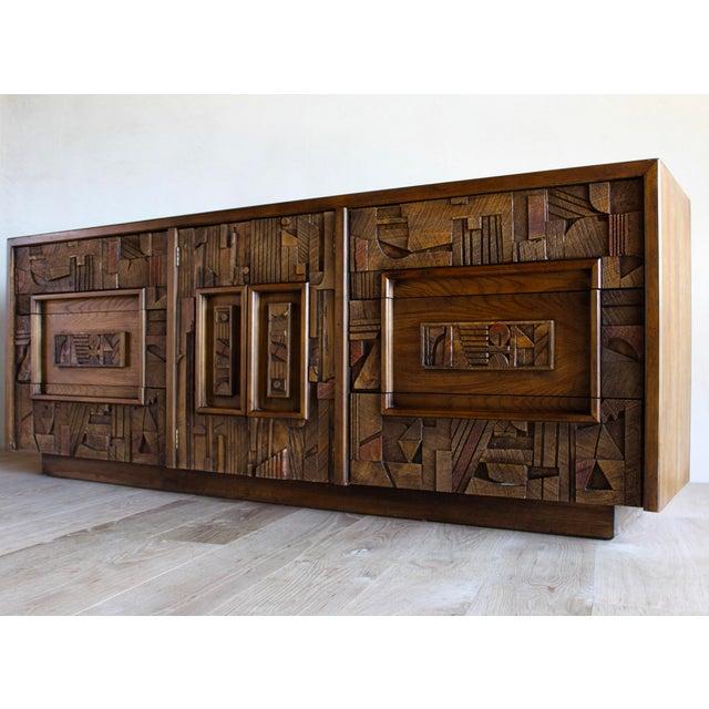 Mid-Century Lane Sculptural Brutalist Paul Evans Style Dresser Chest Credenza For Sale - Image 11 of 11