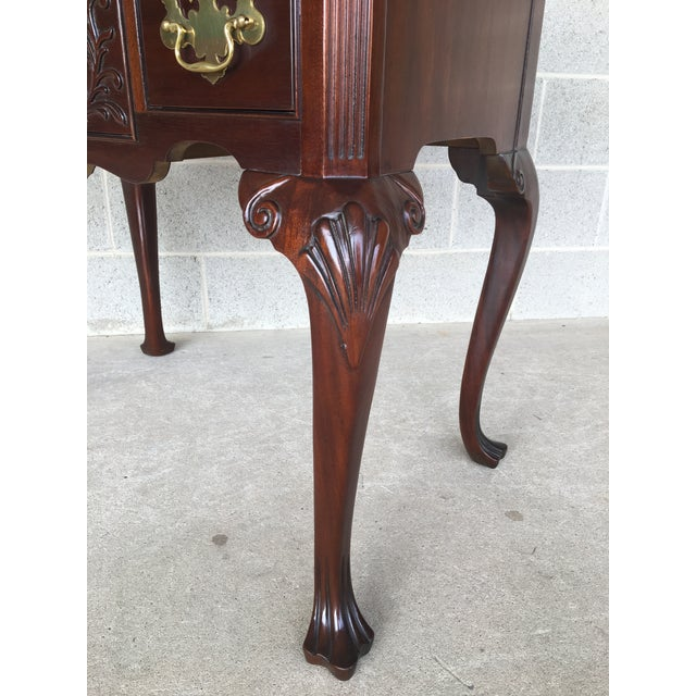 Wood Councill Craftsmen French Chippendale Style Solid Mahogany 5 Drawer Lowboy For Sale - Image 7 of 11