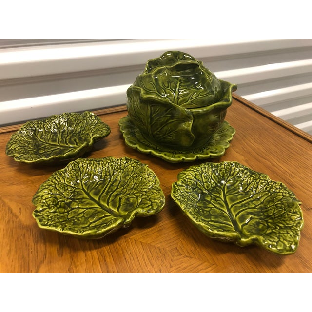 Holland Ceramics Cabbage Soup Tureen With Sharable Plates - 4 Pieces For Sale - Image 11 of 12