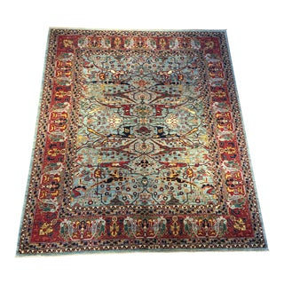 Contemporary Handmade Rug With Traditional Pattern - 8′3″ × 9′10″ For Sale