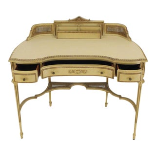 French Figural Painted Desk or Vanity For Sale
