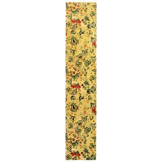 18th-Century Tudor Design Inspired Cream Floral Runner - 3′4″ × 17′9″ For Sale