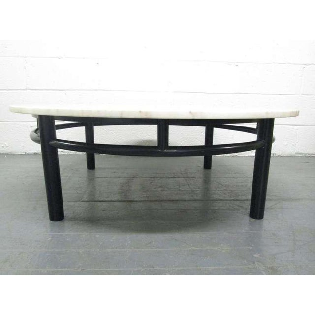 Mid-Century Modern Edward Wormley for Dunbar Marble Top Coffee Table For Sale - Image 3 of 6