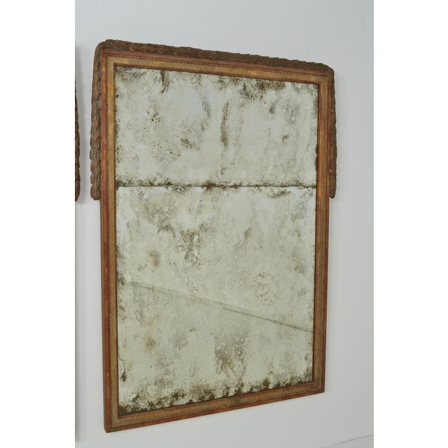 Large Niermann Weeks Neoclassical Mirrors with Antiqued Glass - a Pair - Image 4 of 9