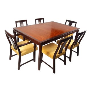 Edward Wormley for Dunbar Formal Dining Table and Chairs For Sale