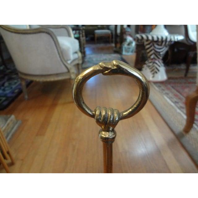 "1970s Hollywood Regency Brass ""Moon"" Doorstop For Sale - Image 5 of 11"