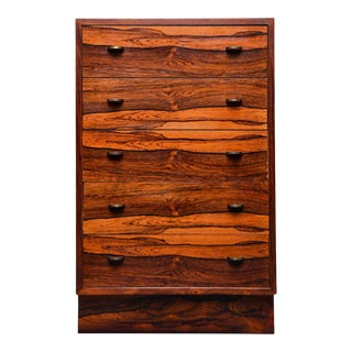 Mid Century Bruksbo of Norway Rosewood Side Cabinet or Chest of Drawers For Sale