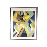 """Image of Vintage Mid-Century Max Howard """"Black Ball"""" Signed Gouache on Board Non-Objective Painting For Sale"""