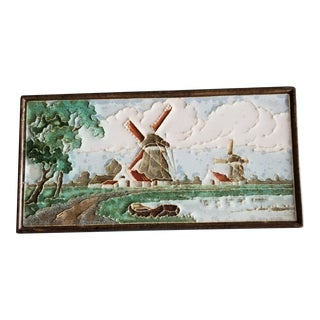 Delft Philippona Art Pottery Tile For Sale