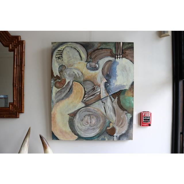 Modern Modern Organic Cubist Abstract Painting For Sale - Image 3 of 4