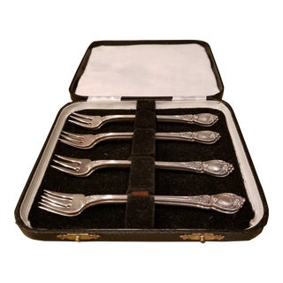 Set of Eight Stanton Hall Sterling Silver Seafood Forks For Sale