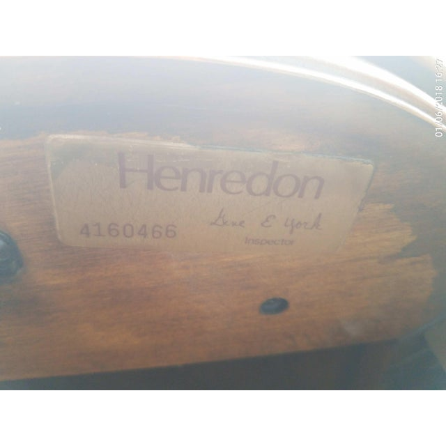Brown Henredon Walnut Clover Shaped End Tables - A Pair For Sale - Image 8 of 9