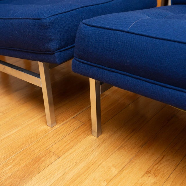 Florence Knoll Pair of Florence Knoll Parallel Bar Slipper Chairs For Sale - Image 4 of 8