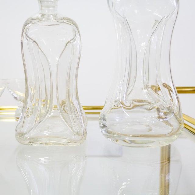 Holmegaard Mid Century Modern Holmegaard Kluk Danish Decanters - A Pair For Sale - Image 4 of 7