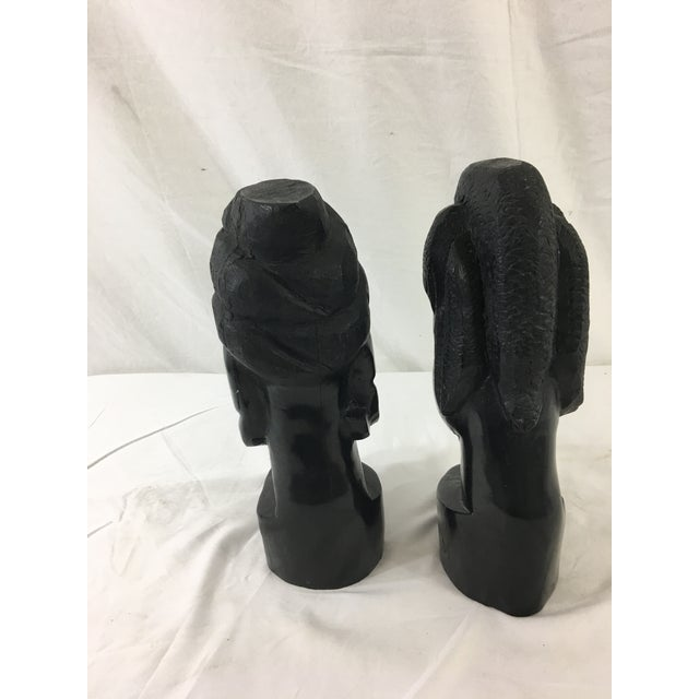 Carved Gabonese Ebonized Wood Figures - a Pair For Sale - Image 4 of 7