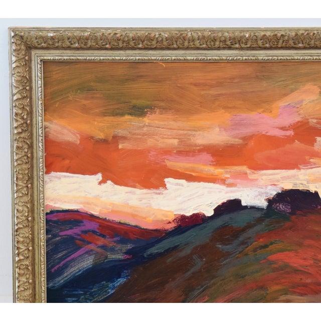 Impressionism Impressionist Santa Barbara Sunset Painting by Juan Guzman For Sale - Image 3 of 9